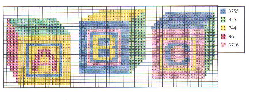 schema gratis punto croce cubi