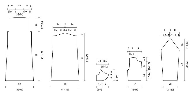scheda maglia tutorial abitino